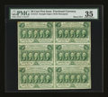Fractional Currency:First Issue, Fr. 1312 50¢ First Issue Block of Six PMG Choice Very Fine 35....