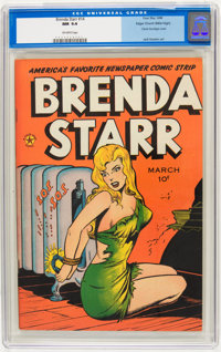 Brenda Starr #14 (#2) Mile High pedigree (Four Star, 1948) CGC NM 9.4 Off-white pages