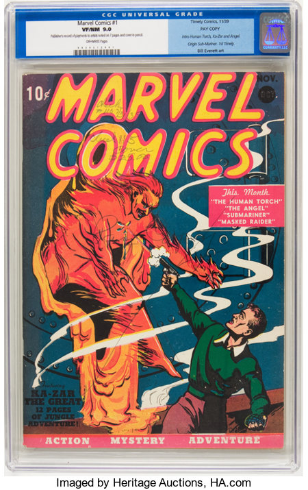 Marvel Comics #1 Pay Copy (Timely, 1939) CGC VF/NM 9.0 Off-white pages....