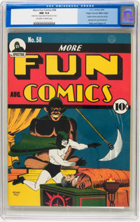 More Fun Comics #58 Mile High pedigree (DC, 1940) CGC NM 9.4 Off-white to white pages