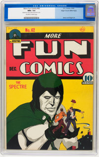 More Fun Comics #62 Mile High pedigree (DC, 1940) CGC NM+ 9.6 Off-white to white pages