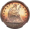 Proof Seated Quarters, 1859 25C PR67 NGC....