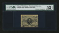 Fractional Currency:Third Issue, Fr. 1238 5¢ Third Issue with A.U. Wyman Courtesy Autograph PMG About Uncirculated 53 EPQ....