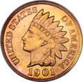 Proof Indian Cents, 1901 1C PR67 Red PCGS....