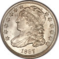 Bust Dimes, 1837 10C MS65 PCGS. CAC....