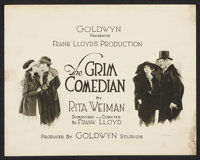 "The Grim Comedian (Goldwyn, 1921). Title Lobby Card and Lobby Card (11"" X 14""). Drama. ... (Total: 2 Items)"