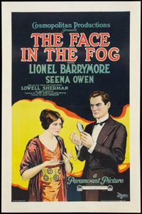"""The Face in the Fog (Paramount, 1922). One Sheet (27"""" X 41""""). Mystery"""
