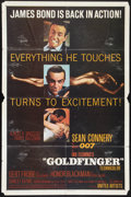 "Movie Posters:James Bond, Goldfinger (United Artists, 1964). One Sheet (27"" X 41""). JamesBond.. ..."