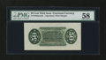 Fractional Currency:Third Issue, Fr. 1358 50¢ Third Issue Justice Wide Margin Back PMG Choice About Unc 58....