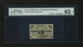 Fr. 1226 3¢ Third Issue with John Burke Courtesy Autograph PMG Choice Uncirculated 63 EPQ