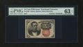 Fractional Currency:Fifth Issue, Fr. 1266 10¢ Fifth Issue with James Gilfillan Courtesy AutographPMG Choice Uncirculated 63 EPQ....
