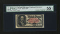 Fractional Currency:Fifth Issue, Fr. 1381 50¢ Fifth Issue with John C. New Courtesy Autograph PMGAbout Uncirculated 55 EPQ....