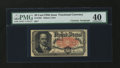 Fractional Currency:Fifth Issue, Fr. 1381 50¢ Fifth Issue with James Gilfillan Courtesy Autograph PMG Extremely Fine 40....