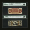 Fractional Currency:Third Issue, Fr. 1343SP 50¢ Third Issue Justice Narrow Margin Pair PMG Choice Uncirculated 64 and 64 EPQ.... (Total: 2 notes)