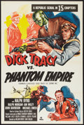 "Movie Posters:Serial, Dick Tracy vs. the Phantom Empire (Republic, R-1952). One Sheet (27"" X 41"") Flat Folded. Serial.. ..."