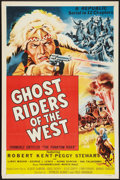 "Movie Posters:Serial, Ghost Riders of the West (Republic, R-1954). One Sheet (27"" X 41"") Flat Folded. Serial.. ..."