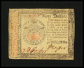 Colonial Notes:Continental Congress Issues, Continental Currency January 14, 1779 $40 Very Fine-ExtremelyFine....