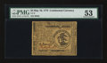 Colonial Notes:Continental Congress Issues, Continental Currency May 10, 1775 $3 PMG About Uncirculated 53....