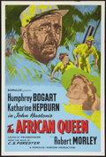 "Movie Posters:Adventure, The African Queen (Romulus, R-1950s). British One Sheet (27"" X40""). Adventure.. ..."