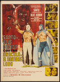 "Movie Posters:Action, Santo & Blue Demon vs. Dracula & the Wolfman(Cinematográfica Calderón S.A., 1972). Mexican One Sheet (27"" X37""). Action.. ..."