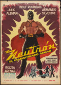 "Movie Posters:Action, Neutron and the Black Mask (Estudios America, 1962). Mexican OneSheet (26.5"" X 37""). Action.. ..."
