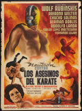 "Movie Posters:Action, Neutron Battles Karate Assassins (Estudios America, 1965). Mexican One Sheet (27"" X 37""). Action.. ..."