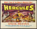 "Movie Posters:Adventure, Hercules (Warner Brothers, 1959). Half Sheet (22"" X 28"") Style A.Adventure.. ..."