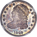 Bust Dimes, 1829 10C Large 10C MS65 NGC. CAC....