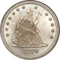 Seated Quarters, 1870 25C MS65 NGC....