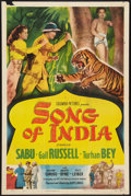 "Movie Posters:Adventure, Song of India (Columbia, 1949). One Sheet (27"" X 41""). Adventure....."