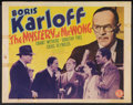 """Movie Posters:Mystery, The Mystery of Mr. Wong (Monogram, 1939). Half Sheet (22"""" X 28"""").Mystery.. ..."""