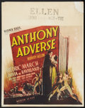 "Movie Posters:Adventure, Anthony Adverse (Warner Brothers, 1936). Jumbo Window Card (22"" X28""). Adventure.. ..."