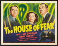 "Movie Posters:Mystery, The House of Fear (Universal, 1945). Half Sheet (22"" X 28""). Mystery.. ..."