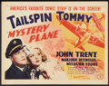 "Movie Posters:Adventure, Mystery Plane (Monogram, 1939). Half Sheet (22"" X 28""). Adventure....."