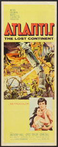 "Movie Posters:Adventure, Atlantis, the Lost Continent (MGM, 1961). Insert (14"" X 36"").Adventure.. ..."