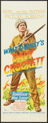 "Davy Crockett, King of the Wild Frontier (Buena Vista, 1955). Insert (14"" X 36""). Western"