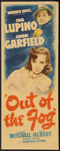 "Movie Posters:Crime, Out of the Fog (Warner Brothers, 1941). Insert (14"" X 36""). Crime....."