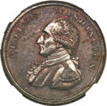Colonials, Undated PENNY Washington Liberty & Security Penny, Corded RimMS64 Brown NGC....