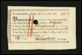 Colonial Notes:Massachusetts, Massachusetts Treasury Certificate, Boston April 1, 1786. Very Fine- Extremely Fine....