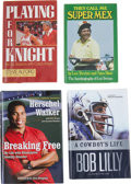 Autographs:Others, Sports Stars Signed Book Lot of 4.... (Total: 5 card)