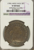 Early Dollars, 1798 $1 Large Eagle, 10 Arrows--Improperly Cleaned--NGC. VFDetails....