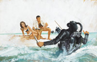ROBERT MCGINNIS (American, b. 1926) James Bond Thunderball movie promotion illustration, c. 1965 Gou