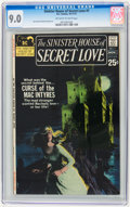 Bronze Age (1970-1979):Romance, Sinister House of Secret Love #1 (DC, 1971) CGC VF/NM 9.0 Off-whiteto white pages....
