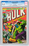 Bronze Age (1970-1979):Superhero, The Incredible Hulk #181 (Marvel, 1974) CGC VF/NM 9.0 Off-white pages....