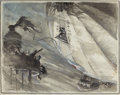 Mainstream Illustration, FREDERICK COFFAY YOHN (American, 1875-1933). The Rescue.Watercolor and charcoal on board. 17 x 21.5 in.. Signed lower l...