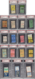 Baseball Collectibles:Tickets, Major League Baseball PSA Graded Ticket Stubs Lot of 17.... (Total:17 items)