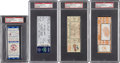 Baseball Collectibles:Tickets, Major League Records and Milestones PSA Graded Full Ticket Lot of4.... (Total: 4 items)