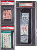 Baseball Collectibles:Tickets, Baseball Historic Games Ticket Lot of 3.... (Total: 3 items)
