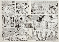 Dick Ayers and Gerry Talaoc Unknown Soldier #268 page 2 and 3 Original Art (DC, 1982)
