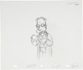 animation art:Production Drawing, The Simpsons Homer, Lisa and Professor Frink AnimationProduction Drawing Original Art Group (Fox, undated).... (Total: 3Items)